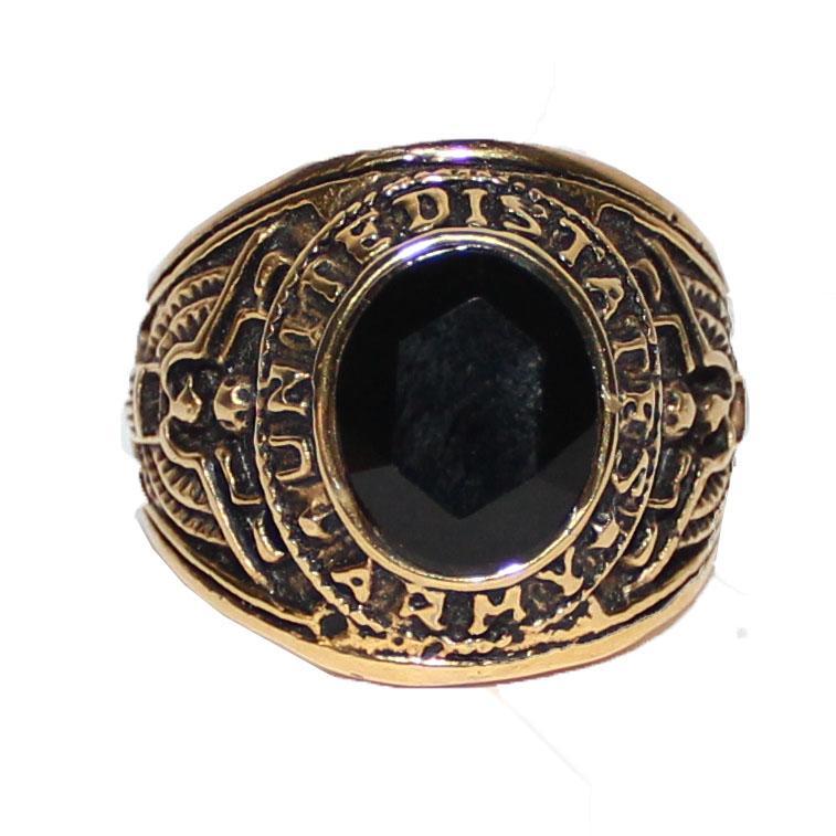 United States Matines Bronze/Black Stone Bishop Ring