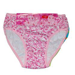 Panties Barbie Cotton 3 Pcs Multicolor Girl's  Pant Set