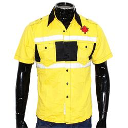 Yellow/Black/White Cotton S/Sleeve Shirt