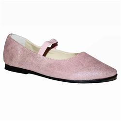 Anna&Eiden Pink Suede Glittering Girls Pointed Toe Shoe