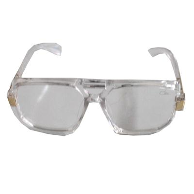 White/Gold Transparent Lens Men's Sunglass