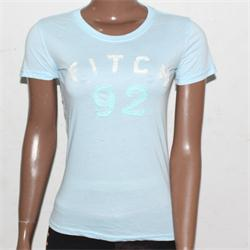 Abercrombie&Fitch Blue Cotton Ladies T-Shirt