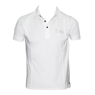 Hugo Boss White Cotton Men's Polo