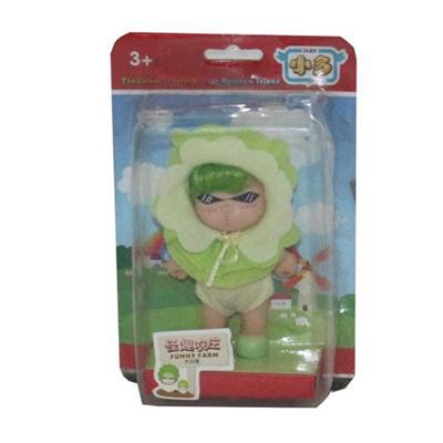 Baby G Kurhn Doll in Green Funny Farm Wear