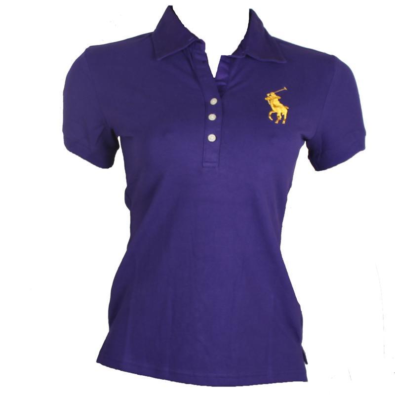 Ralph Lauren Purple Ladies Polo wt Big Yellow Pony