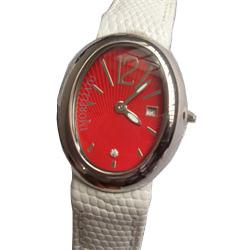 Morellato Red Background Ladies Watch Wt White Leather Strap