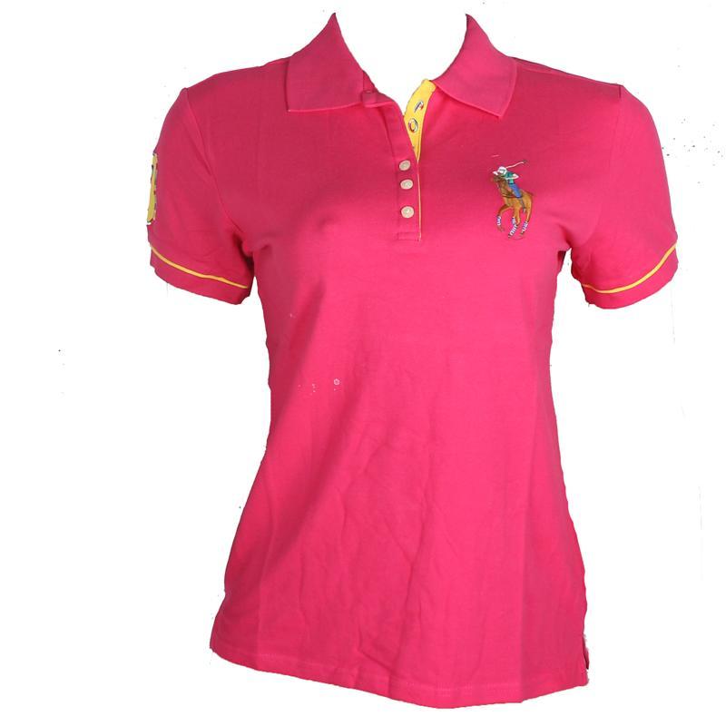 Ralph Lauren Dark pink Ladies Polo wt Big Wine Pony