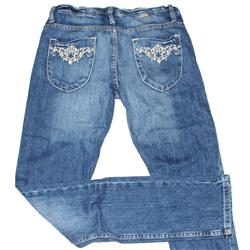 Jealous 21 Blue Ladies Pencil Jean Wt Stitches