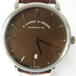 A.Lange & Sohne Brown Leather Men's Watch Wt Coffee Face: 2 Yrs Warranty