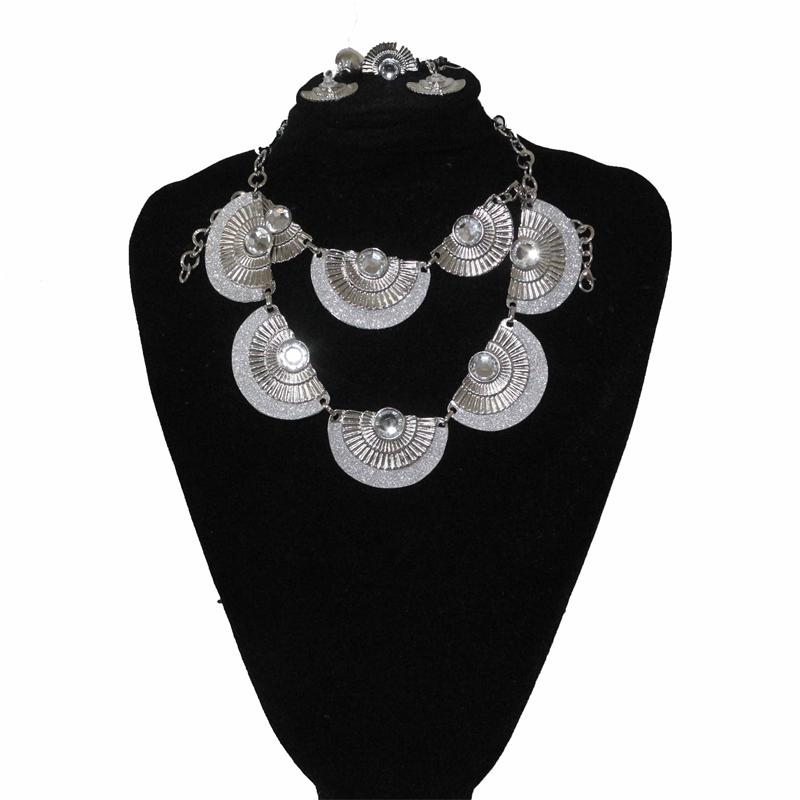 Fashion Silver Fan Jewelry Set