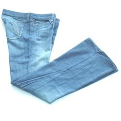 Gap Blue Ladies Bootcut Jeans Wt Cream Embroidery