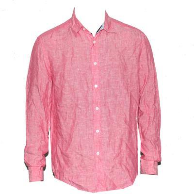 M&S Blue Harbour Geranium Linen L/S Men's Shirt