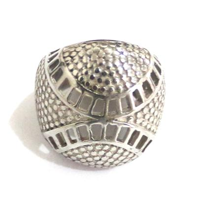 Silver Bishop Ring With Bold Round Face