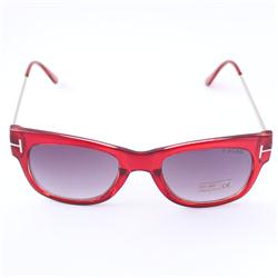 Light Red/Silver Handle Square Shape Sunglass