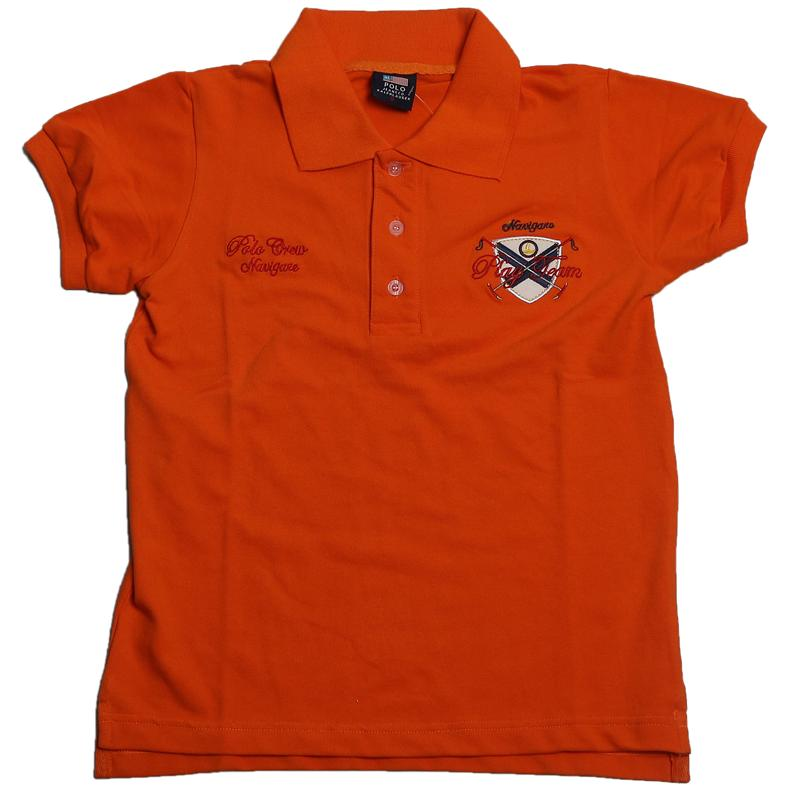 Polo Ralph Lauren Orange Boys Polo Wt Crest