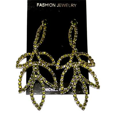 Fashion Silver/Lemon Studded Drop Earring