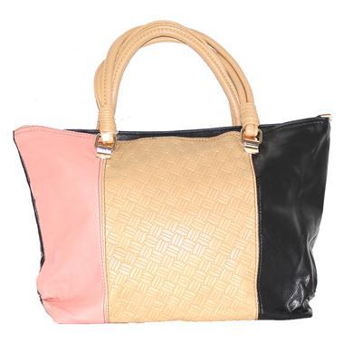 Rikes Place Pink/Brown/Black Leather Ladies Handbag