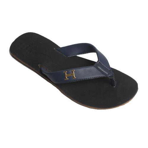 Boutique Blue Leather Men's Slippers