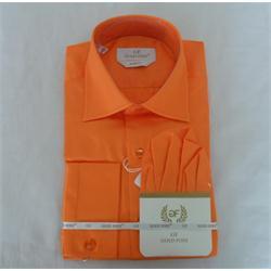Gold Foxx Orange Slimfit Men's Longsleeve Office Shirt
