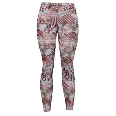 Pingfa White/Brown/Pink Mix Cotton Ladies Leggings