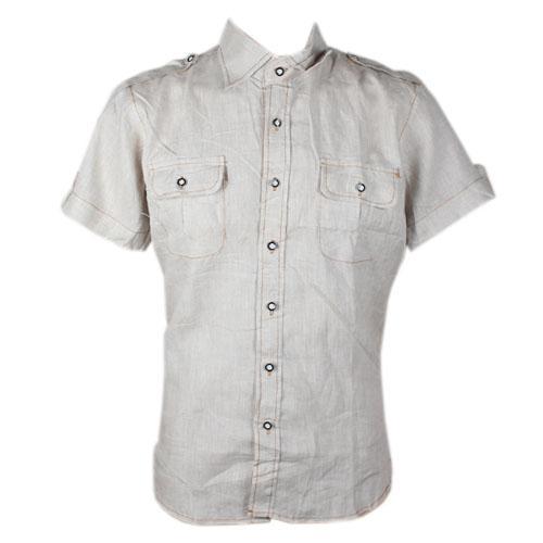 Burberry Brown ShortSleeve Mens Casual Shirt