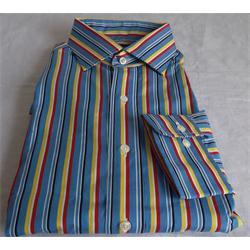 Polo Ralph Blue/Yellow Stripe Men's Longsleeve Formal Shirt