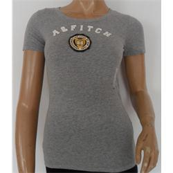 Abercrombie && Fitch Gray Ladies T-Shirt Wt Yellow Design