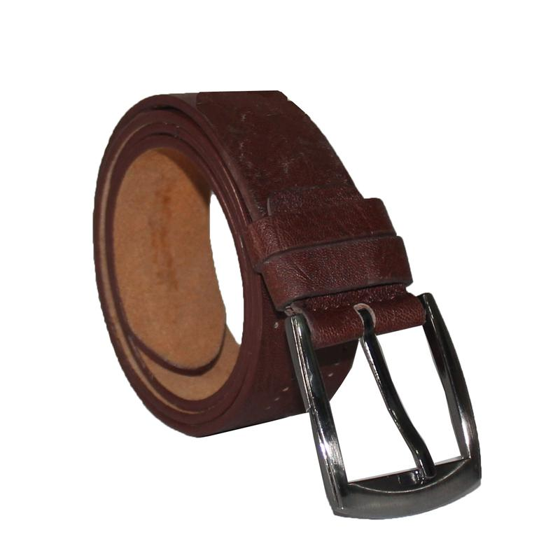 K-Dapple Brown Leather Men's Belt