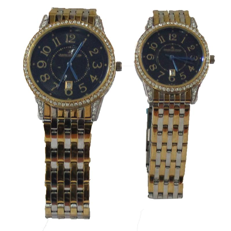 Jager-LeCoultre Silver/Gold Stainless Steel His&Her Watch