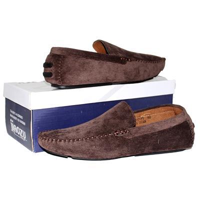 Jiaozu Coffee Corduroy Men's Loafers