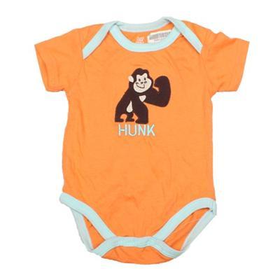 Caters Orange/Blue Baby Romper Wt donkey Design