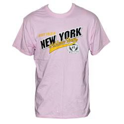 Gildan Pink Cotton Black/Yellow Print Men's T-shirt