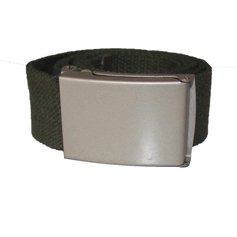 Green Denim Fabric Men's Belt