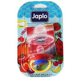 Japlo Chery Red/Blue Baby Soother For 3month+