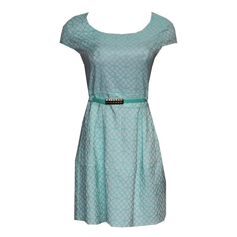 Benlex Light Green  Check Cotton  Dress