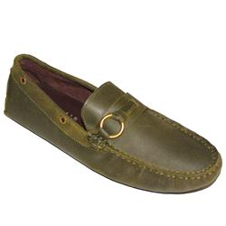 Lord & Kelvin Green Leather Men's Soft Loafers