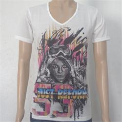 Just Reform White/Black Men's V-Neck T-Shirt Wt Graphic Design