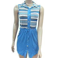Huixue Light Blue Multicolor Ladies Mini Gown