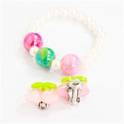 Creamulticolor Beaded Babies Handband & Earring