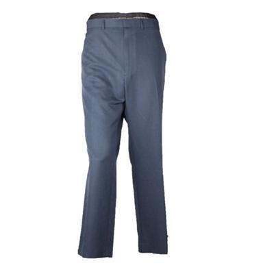 Mark & Spencer Ultimate Navy Wool Men's Straight Fit Trouser
