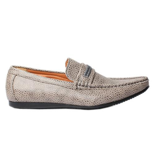 Depally Gray Leather Casual shoe