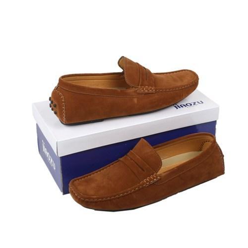 Jiaozu Brown Suede Men's Loafers