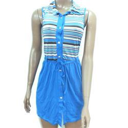 Huixue Blue Multicolor Ladies Mini Gown