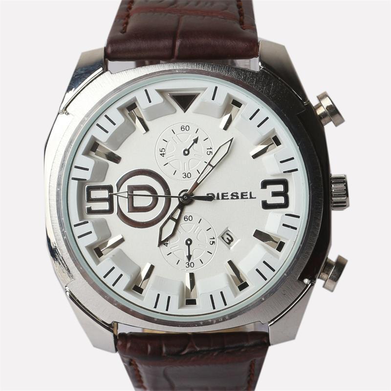 Diesel Brown Leather Men's Wrist Watch