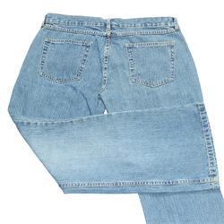 M&S Blue Cotton Ladies Straight Fit Jeans Trouser