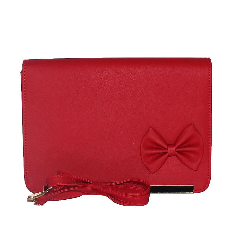Rikes Places Red Leather Bow Design Ladies Handbag