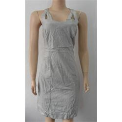 Gray Armless Short Dress Wt Front Pocket
