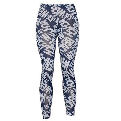 Pingfa Navy/White Printed Cotton Ladies Leggings