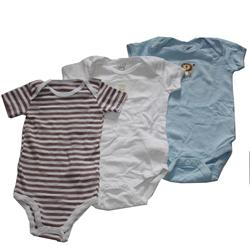 Next White/Blue/Brown Mix Cotton 3-In-1 Kids Rompers
