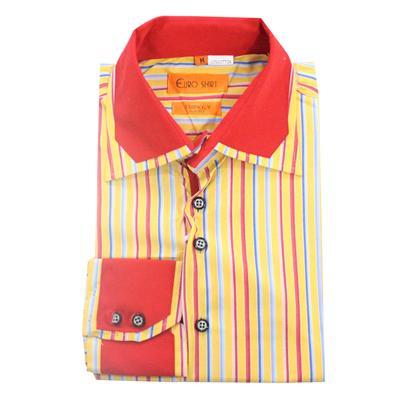 Euro Multi Colour Cotton Formal L/Sleeve Shirt